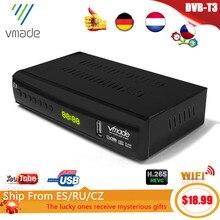 2020 neueste DVB T3 DVB T2 terrestrischen receiver HD 1080P TV Tuner DVB T2 Decoder H.265 unterstützung youtube USB WIFI Digital receiver