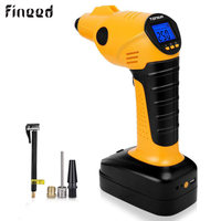 Fineed Air Compressor Cordless Tire Inflator with LED Light 60L/MIN Tire Pressure Gauge 12V/150PSI 10A pump for Cars, Bikes