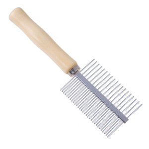 Dog Comb Multi-usage Stainless Steel Pet Dog Cat Combs Dog Cat Steel Pins Cleaning Brush Comb Pet Grooming Brushes 1Pcs
