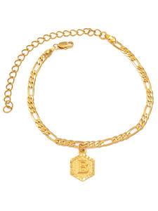 Anniyo Letter Anklet Jewelry Foot-Chain Gifts Initial Girl Women 21cm for Fashion Alphabet