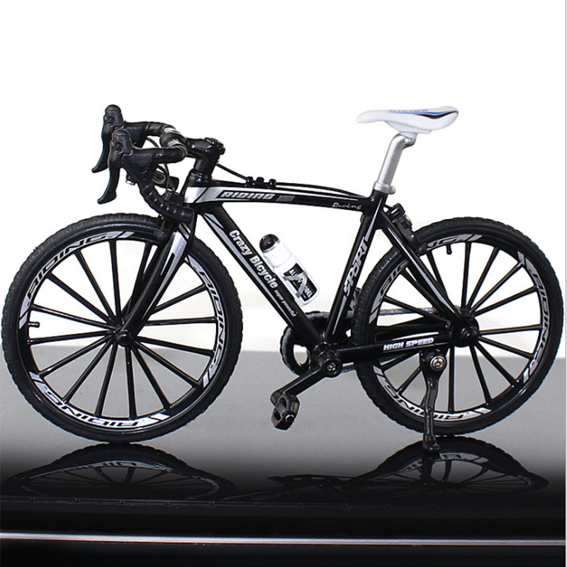 1/10 Scale Metal Bicycle Model Toys  Curved Racing Cycle Cross Mountain Bike Replica Collection Home Decoration Children's Gift