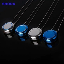 цена на SHODA Wearable Air Purifier Necklace Mini Portable Air Freshener Ionizer Negative Ion Generator Air Purifier