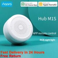 Aqara Zigbee Gateway Hub Verbindung Drahtlose Aqara M1S Hub Alarm System Fernbedienung Smart Home Für Xiaomi Mijia APP HomeKit