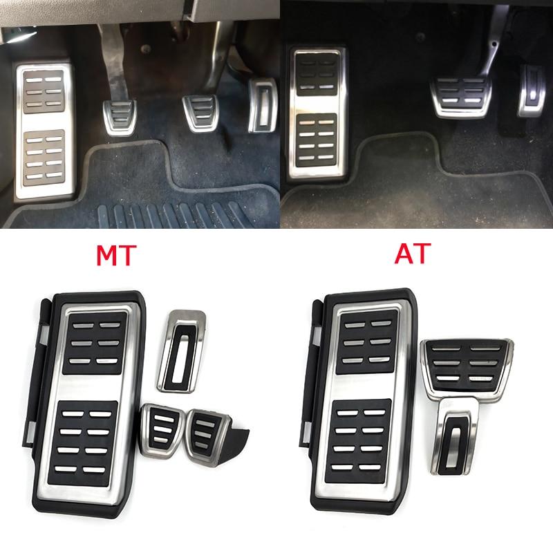 De acero inoxidable Pedal para VW GOLF 7 GTi MK7 Lamando POLO A05 Passat B8 Skoda Fabia Octavia 5E 5F A7 2014 + Accesorios de coche|Pedales|   - AliExpress