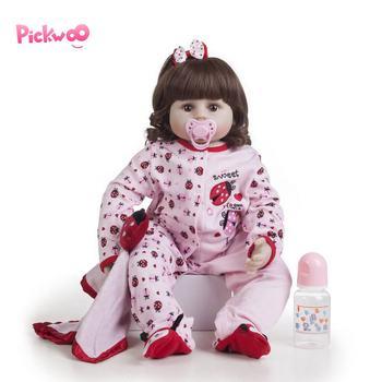 Pickwoo 48cm bebes reborn Baby doll 18 inch girl Dolls soft Silicone Boneca Reborn Brinquedos Bonecas children's day gifts toys warkings reborn