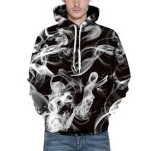 Autumn 2019 New Long Sleeve Men Hoodies Hooded 3D Print Loose Tops Sweatshirts S-3XL Plus Size Casual Male Winter