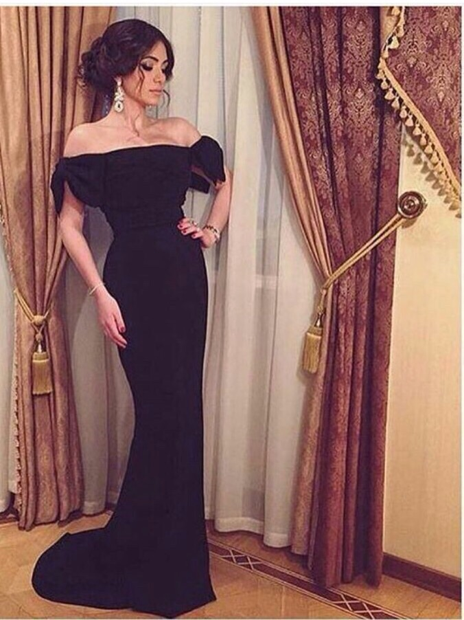 Off Shoulder Vestido De Noiva Mermaid Vintage Evening Party Gown Spandex Fabric Prom Gowns 2018 Long Mother Of The Bride Dresses