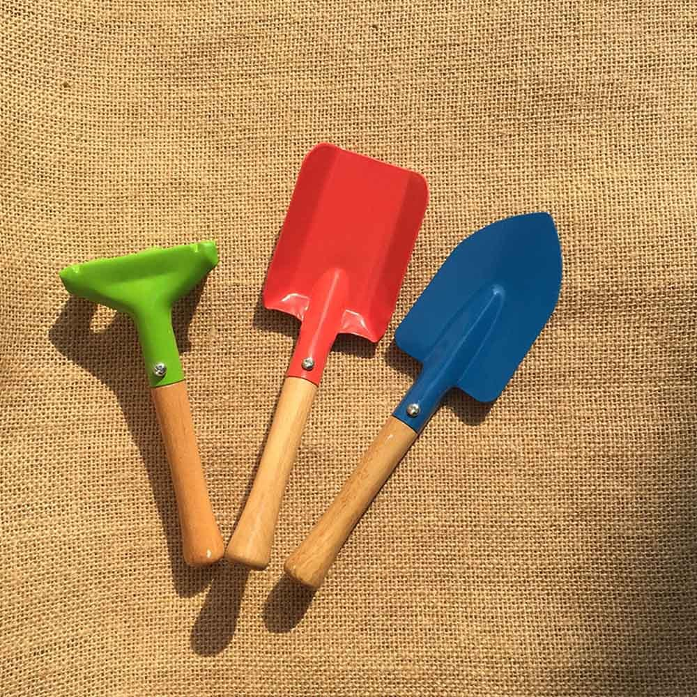 3Pcs Mini Garden Tools Children Gardenin Kit Beach Sand Shovels Toys