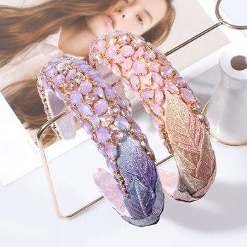 Luxury Crystal Pink Purple Rhinestone Headband  1