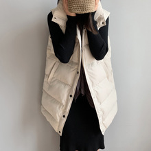 Puffer Vest Korean-Style Women Sleeveless Jacket Coats Loose Winter Casual Cotton Single-Breasted