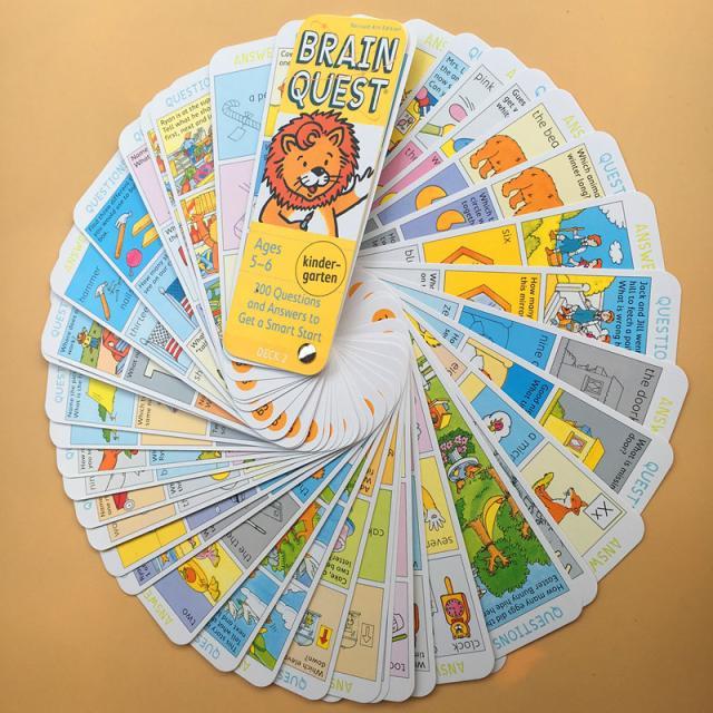 Cerveau Quest Version anglaise de la carte de développement intellectuel autocollant livres Questions et réponses carte Smart Start enfant enfants - 4