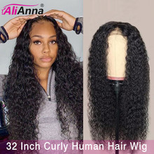 13×6 Lace Front Wig 10-32 Inch Curly Human Hair Wig Pre Plucked Lace Front Human Hair Wigs Brazilian Remy Hair Closure Wig