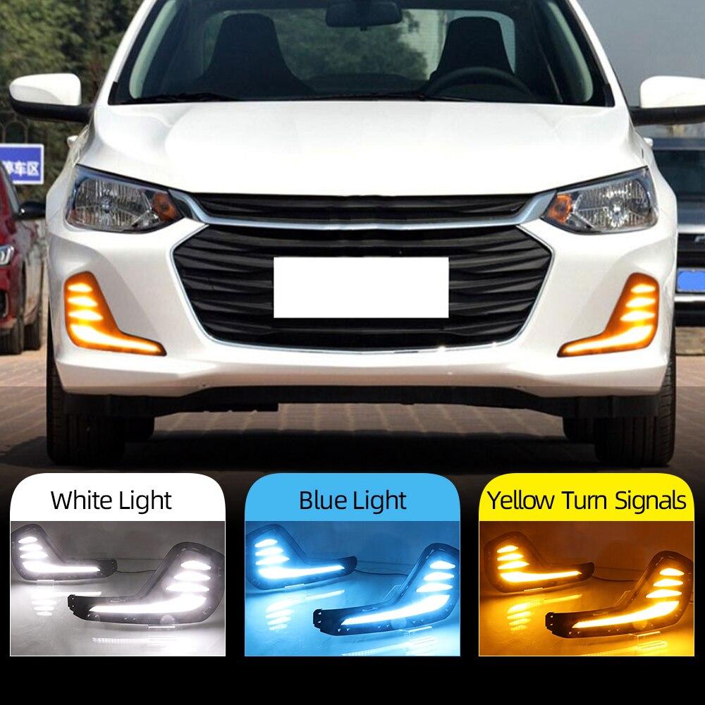 Автомобильная проблесковая 1 пара для Chevrolet Cavalier 2020 Габаритные огни указатель поворота колпак противотуманных фар светодиодный DRL стайлинг...