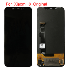 6.21 Amoled Display with frame lcd for Xiaomi MI8 Mi 8 Global LCD Touch Screen Digitizer Assembly Replacement Parts
