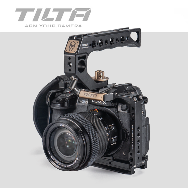 تيلتا TA T37 A G هيكل قفصي الشكل للكاميرا لباناسونيك لوميكس GH5 GH5S DSLR تلاعب عدة كامل قفص مقبض علوي