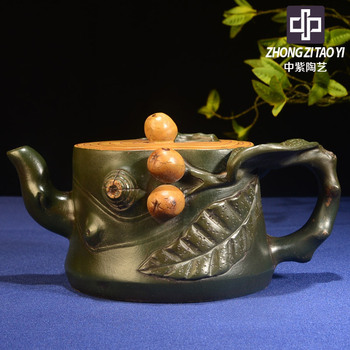 In Purple Goods Imitate Old Kettle Old Dark-red Enameled Pottery Teapot Taiwan Backflow One Factory The Cultural Revolution