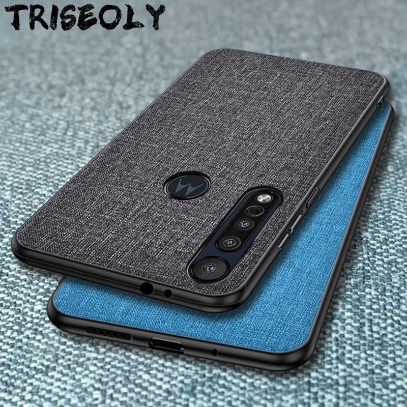 Fabric Cloth Phone Case For Motorola Moto G6 G8 Plus P30 Play Note E6 Cover For Motorola G7 P40 Power One Action Macro Vision