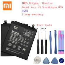 100% Original Real 4100mAh BN43 Battery For Xiaomi Redmi Note 4X Snapdragon 625 / Note 4 global Snapdragon 625