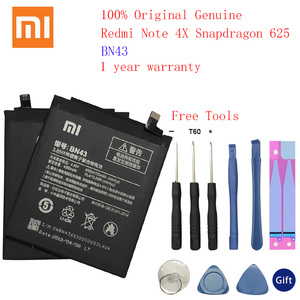 Image 1 - 100% Original Real 4100mAh BN43 Battery For Xiaomi Redmi Note 4X Snapdragon 625 / Note 4 global Snapdragon 625