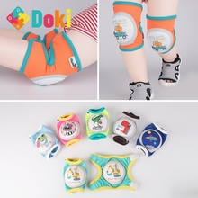 Doki Toy The New Children's Knee Baby Infant Toddler Crawling From Knee Elbow Pads Cycling Protective Gear Sets Popular 2021