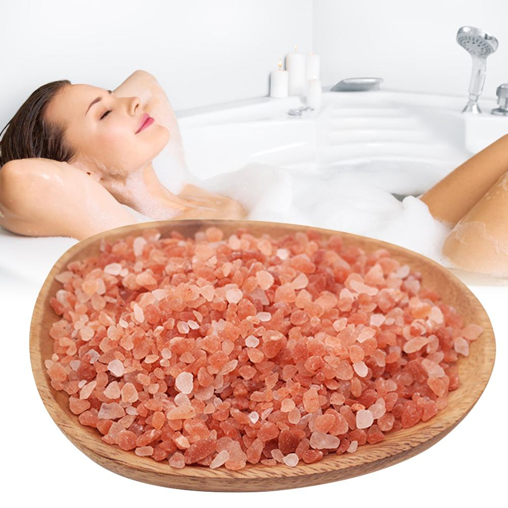 1PC Himalayan Crystal Rose Salt Bath Cleaning Salt For Men And Women Natural Extract For Scars Acne Itchy Dry Skin Red Rose Salt