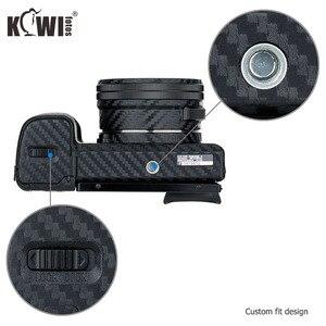 Image 4 - Capa de pele do corpo da câmera anti risco para sony a6100 a6400 a6300 + selp1650 16 50mm protetor de lente 3 m adesivo filme de fibra de carbono