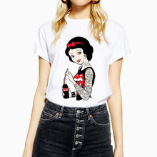 Maycaur Funny Princess T Shirts Women Clothes Harajuku Thin Section Tshirt Leisu