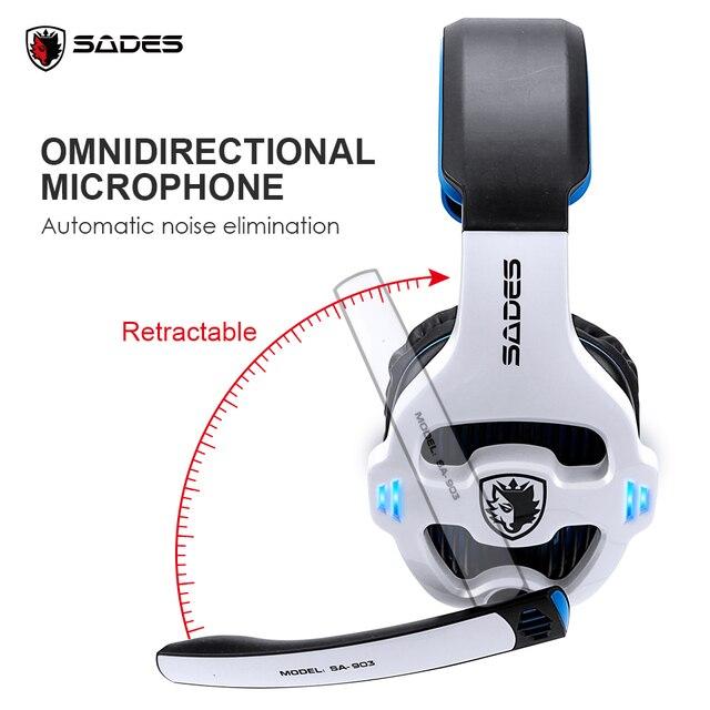 SADES SA-903 High-Performance 7.1 USB PC Headset Deep Bass Gaming Headphones With LED Micphone For PC Gamer 3
