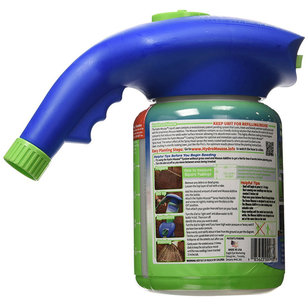 Seed Sprinkler Liquid Lawn System Grass Seed Sprayer Plastic Watering Can Quick And Easy Sprayers Ink Dropshipping-1