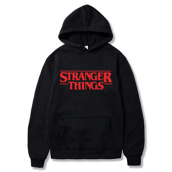 Trendy Faces Stranger Things Hooded Men Hoodies and Sweatshirts Oversized for Autumn Winter Hip Hop Streetwear Hoody