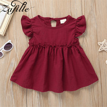 ZAFILLE Summer Dress Flare Sleeve Baby Girl Clothes Patchwork 2020 New Solid Girls Clothing Toddler Kids Dress Cute Girls Dress zafille new baby girl clothes summer dress for girls patchwork mesh girls dress short sleeve toddler kids clothes princess dress