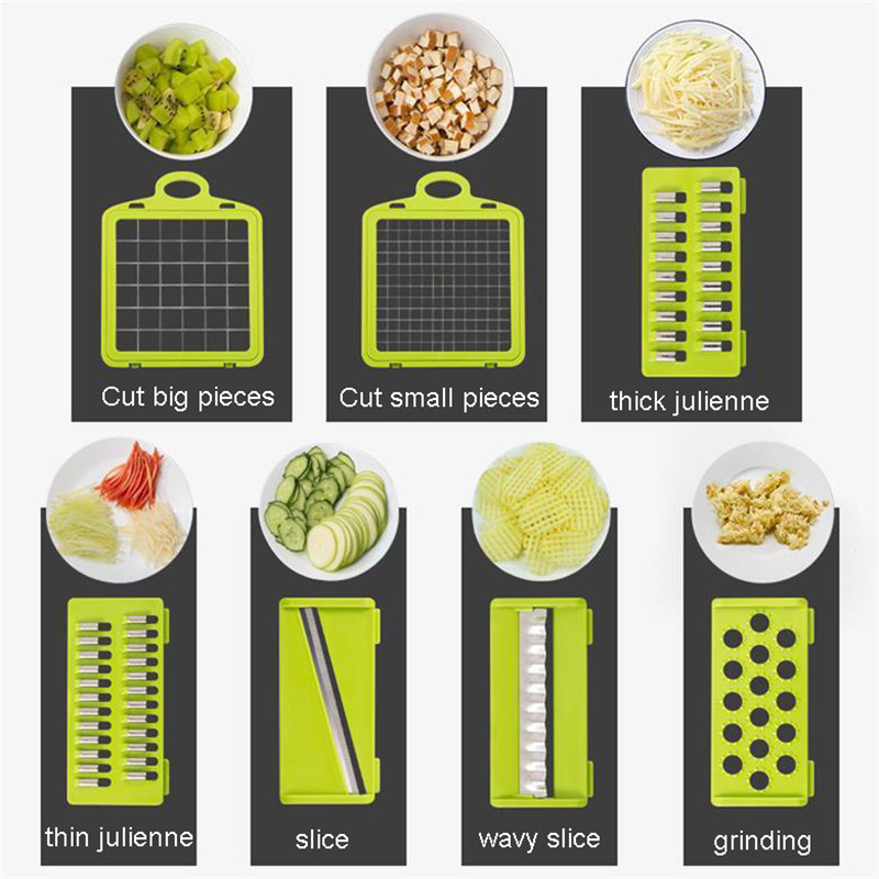 Mandoline Vegetable Fruit Slicer Grater Cutter Peeler Multifunctional Potato Peeler Carrot Grater Drain Basket Kitchen Tool 5