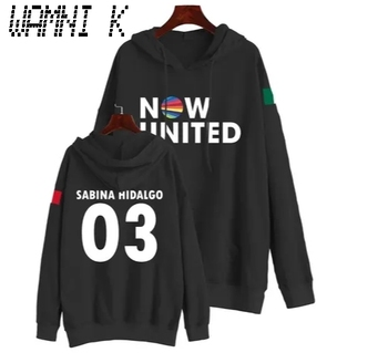New Korean Fashion Now United Hoodie Sweatshirts Men Women Sabina Hidalgo 03 Pullover Tops Female Harajuku Streetwear Hip Hop image