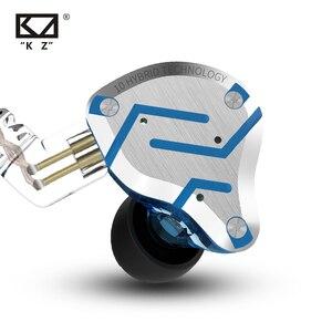 Image 2 - KZ ZS10 פרו זהב אוזניות 4BA + 1DD היברידי 10 נהגים HIFI בס אוזניות באוזן צג אוזניות רעש ביטול מתכת אוזניות