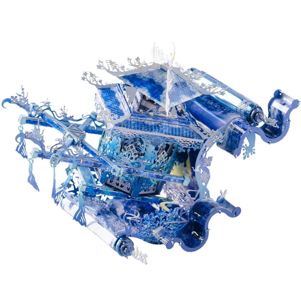 MU Lunar dyed dawn  3D Metal Kits DIY Assemble Puzzle Laser Cut Jigsaw Building Toy YM-N100-B-C