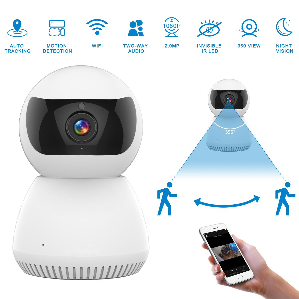 H94b6a1f997ac4fdcad57671aa00b7fe5n JOOAN IP Camera 1080p Wireless Home Security IP Camera Surveillance Camera Wifi  CCTV Camera Baby Monitor with 30days free