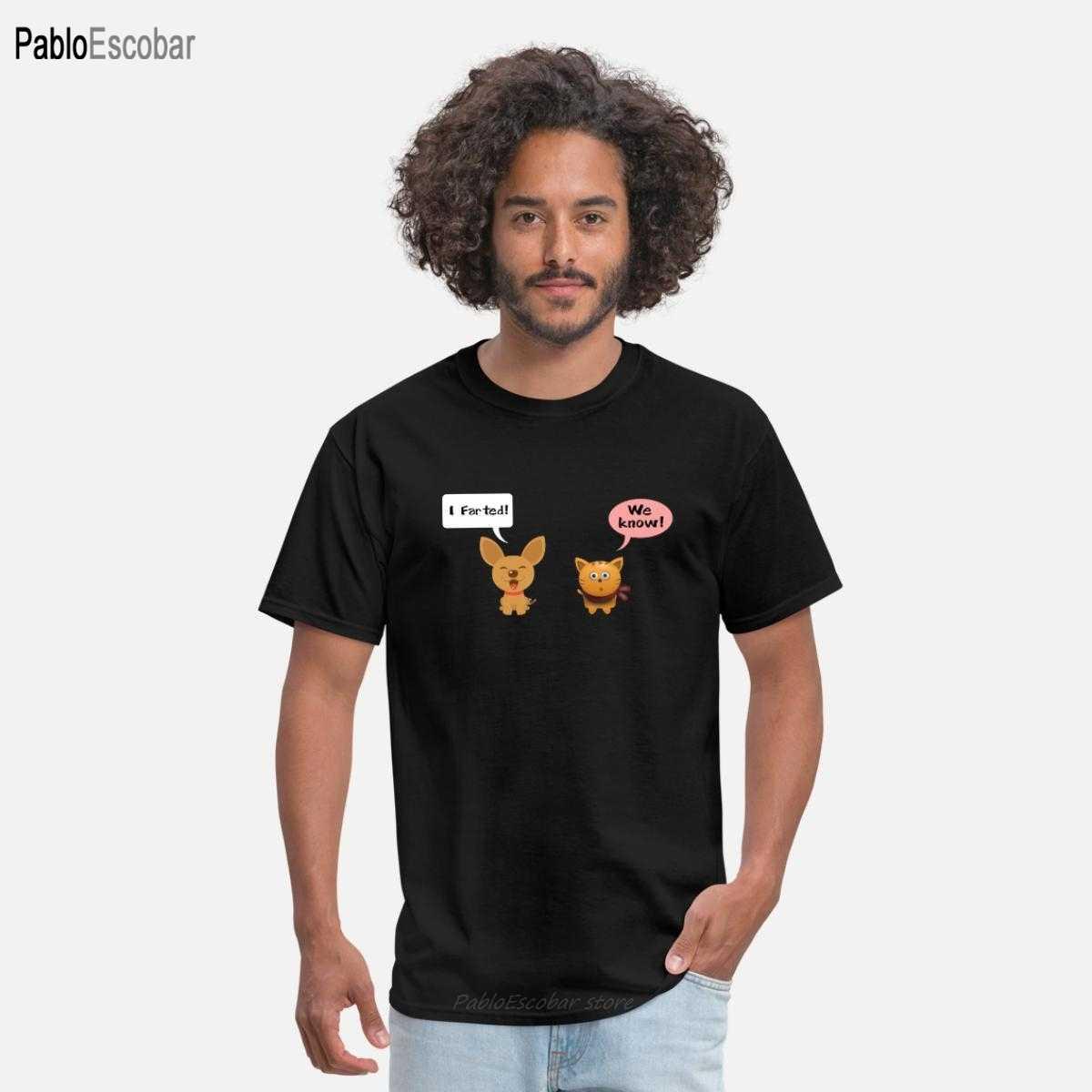Chats amant conception t-shirt hommes coton t-shirt chien chat Chihuahua drôle pété comique homme drôle t-shirt 4xl 5xl hauts