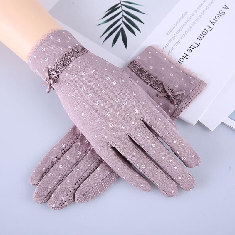 Кружевные весенне летние перчатки для водителя с принтом, перчатки для пальцев, оптовая продажа, Нескользящие солнцезащитные перчатки для сенсорного экрана|Женские перчатки|   | АлиЭкспресс