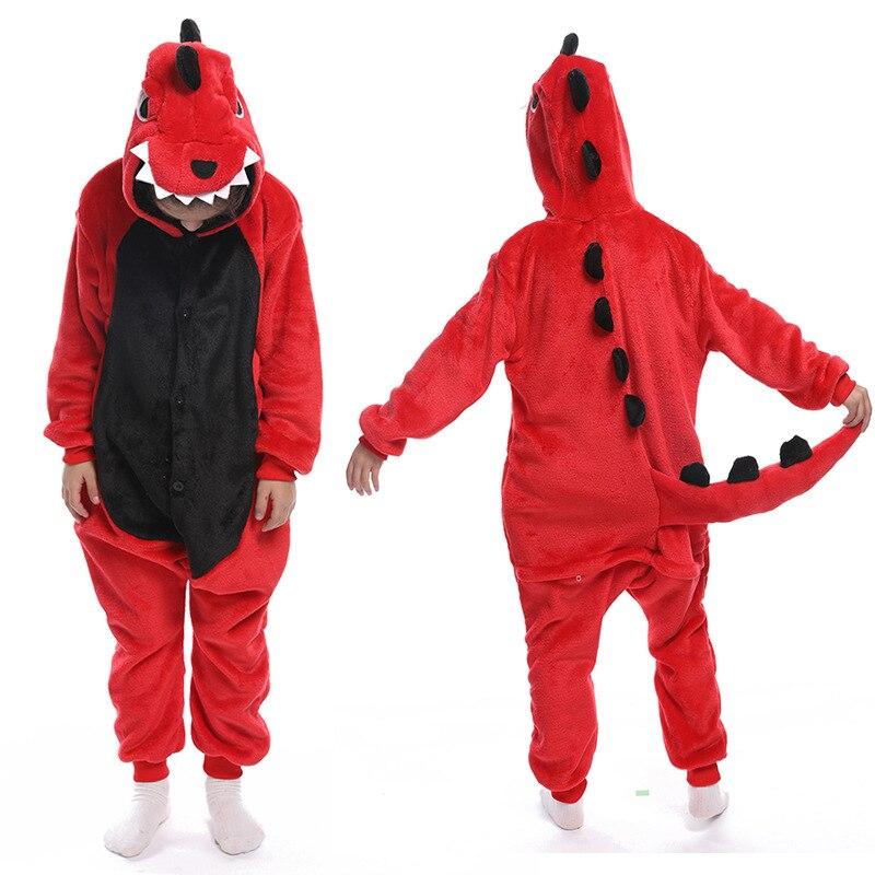 Flannel Unicorn for Kids Pajamas Boys Girls Sleepwear Children Panda Jumpsuit Kids oneises for Licorne Jumpsuit 5