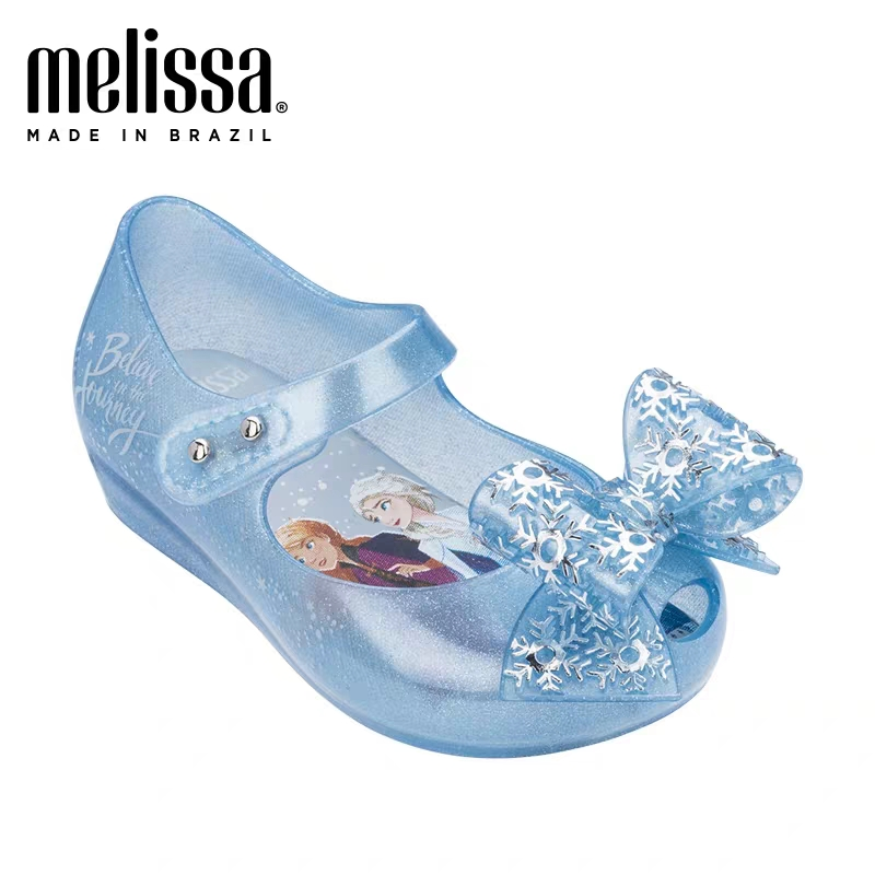Mini Melissa Ultragirl 2020 Original Girl Jelly Sandals Butterfly Knot Kids Sandals Children Beach Shoes Non-slip Melisa
