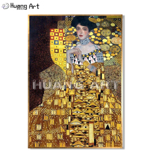 Famous Oil Painting on Canvas Hand-Painted High Quality Gustav Klimt Figure Portrait for Room Wall Decor Imitation