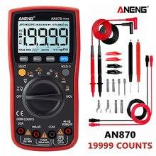 ANENG 870 rosso Multimetro Digitale 19999 conta Retroilluminazione AC/DC Amperometro Voltmetro di Ohm del coccodrillo ponticello wire test di piombo