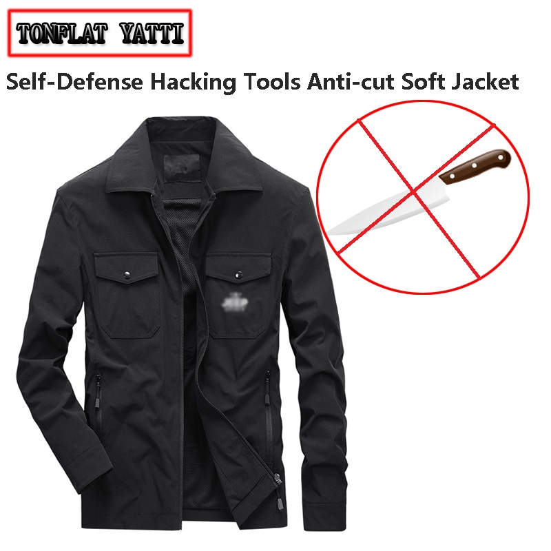 Cut-resistant Safety Jacket Self-defense, Anti-cut Stab-resistant Hacking Tools Hack Soft Stealth Fbi Police Protective Clothing