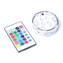 16 Color RGB Hookah LED Light Base with Remote Controller for Cachimba