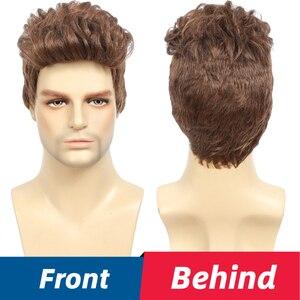 Y Demand мужской Молодежный парик, короткие светлые синтетические волнистые полные парики, флисовые реалистичные натуральные волосы