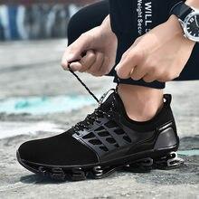 CHAMSGEND-Zapatillas deportivas Retro transpirables para hombre, zapatos ligeros a prueba de golpes, para correr, de malla, talla máxima 48