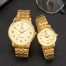 Couple Golden Women Men Watch New Fashion King Queen Lover W