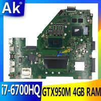 X550VX MB._ 4G/I7-6700HQ/AS X550VX anakart REV 2.0 için ASUS FX50V K550VX X550VX X550VQ anakart testi tamam değişim!!!