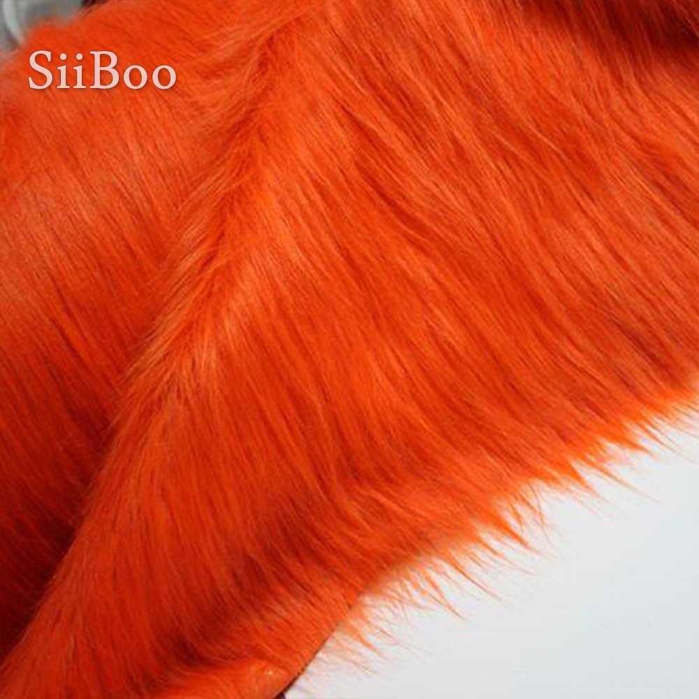 Di alta qualità dark orange 9 centimetri peluche della pelliccia del faux tessuto per il cappotto di inverno, maglia, Collo di pelliccia, SP2482 del capo 150*50cm 1pc libera il trasporto