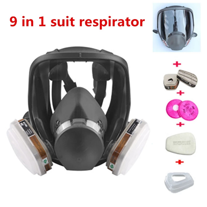 9/17 in 1 Spray Paint 6800 Gas Mask With Spray Type Safety Gas Mask Full Face Mask Industrial Protective Mask